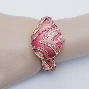 Rare Vintage Persona Hinged Bracelet Watch - EUC